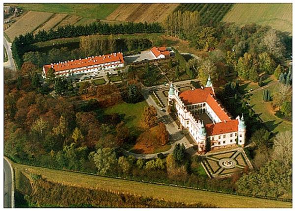 Zamek w Baranowie Sandomierskim z lotu ptaka