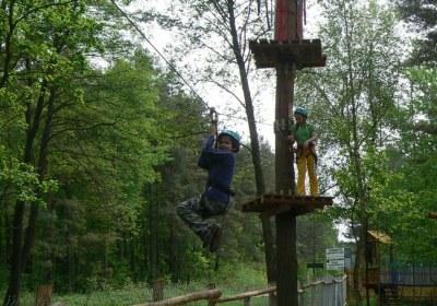 Park linowy _radawa_zjazd