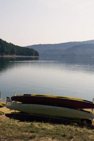 Nad jeziorem Solińskim