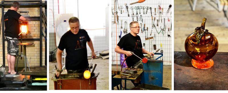 Praca hutników w Centrum Dziedzictwa Szkła w Krośnie-zdjęcie
