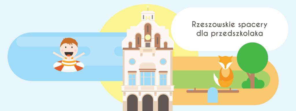 Rzeszowskie spacery dla przedszkolaków - plakat przewodnika