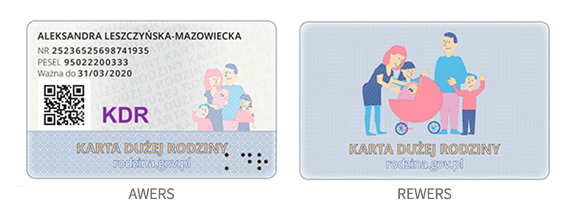 karta duzej rodziny
