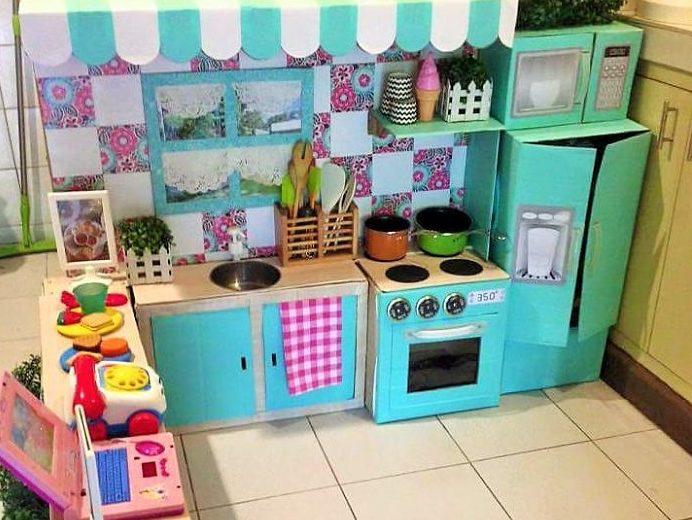 Jak z kartonów zbudować kuchnię dla dzieci  Gdziecko pl   -> Kuchnia Dla Dzieci Najtaniej