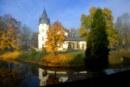 Pałac w Olszanicy jesienią, Bieszczady