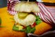 Burger z selera z kaszą i kapustą kiszoną