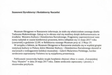 Prezentacja dzieła Tadeusza Makowskiego, Rzeszów