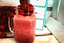 Truskawkowy shake z kaszą jaglaną